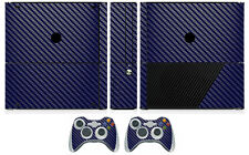 Blue Carbon Fiber Vinyl Skin Sticker for Xbox360 Slim E and 2 controller skins