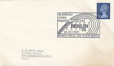 (33489) GB CLEARANCE Cover German Youth Philatelic Exhibition BFPS 26 Oct 1972