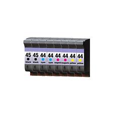 8 Patronen ProSerie für HP 45 & 44 Designjet 750 C Plus