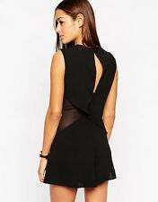 ASOS Asymmetric Playsuit with Sheer Side - UK 8 - BN