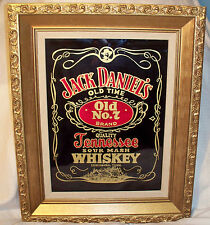 Jack Daniels No 7 Tennessee Sour Mash Whiskey mirror in Gold Colored Frame 13x16