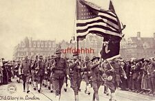 OLD GLORY IN LONDON CHICAGO DAILY NEWS G.J. KAVANAUGH WAR POSTAL CARD SERIES