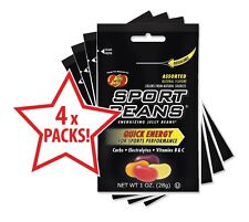 Jelly Belly Sport Beans - Assorted Flavours (some with Caffeine) x 4 Packs