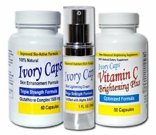 Ivory Caps System 1 Skin Whitening Lightening Glutathione Pills Cream Ivory Caps