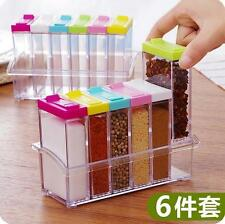 Imported - Spice Shaker Seasoning Bottle Jar Condiment Storage Container - 6 Pcs