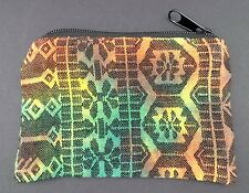 Rasta Color Geometric Coin Purse Bag Pouch Credit Card ID Holder Wallet Cotton