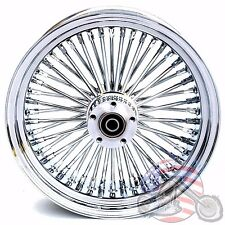 16 3.5 48 Fat King Spoke Front Wheel Chrome Rim Single Disc Harley FLST Touring