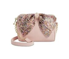 NWT Betsey Johnson Blush Pink Sequin Bow Crossbody SOLD OUT EVERYWHERE !!