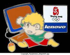 OLYMPIC PINS BEIJING CHINA 2008 LENOVO COMPUTER SPONSOR