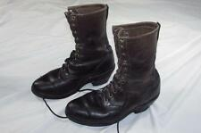 Vtg Chippewa Black Tag Leather Work Boots Sz 9.5 D USA Made Packer Western Nice!