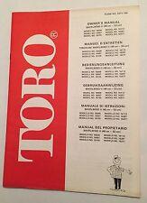 Toro whirlwind ii tondeuse 1978/1994 owners manual