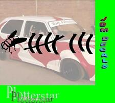 Fliege Strichliste JDM Sticker Aufkleber oem Power fun like Shocker Hater