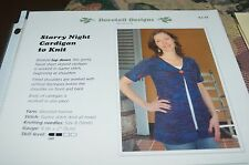 Dovetail Knitting Pattern Starry Night Cardigan to Knit K2.34 30-50""