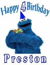 Personalized Elmo's World Cookies Monster BIRTHDAY PARTY T SHIRT GIFT with NAME