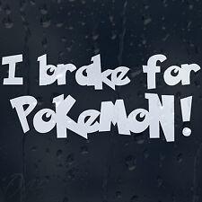 Je de frein pour pokemon drôle voiture autocollant vinyle autocollant pour pare-chocs ou fenêtre ou panneau