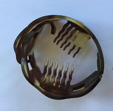 Vintage Hair Barrettes - Tortoise Shell Color Ponytail Holder (off card)