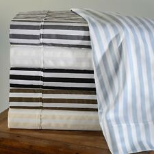 Superior Cabana Striped 600 Thread Count Cotton Blend Deep Pocket Sheet Set