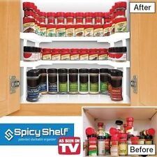 Spicy Shelf Patented Spice Rack & Stackable Organizer Kitchen Dining & Bar