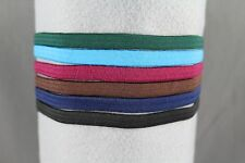"set pack of 6 stretch elastic sport headband no metal 3/8"" hair band stretchy"