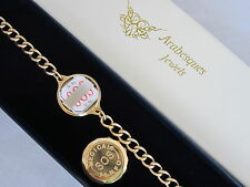 9ct GOLD PLATED STAINLESS STEEL SOS BRACELET LADIES/MENS MEDICAL ALERT TALISMAN
