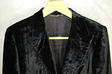 SUPER GORGEOUS !!! DOLCE&GABBANA  MEN VELVET JET BLACK JACKET/BLAZER EU 48 US 38
