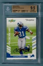 CALVIN JOHNSON 2007 SCORE INSCRIPTIONS RC AUTOGRAPH AUTO  BGS 9.5 GEM MINT