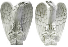 "Pair of 2 Eagles left and right Statues Sculptures 18"" for Home or Garden"