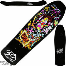 "SANTA Cruz ""Toybox"" Jeff Grosso Skateboard Deck 9.5"" Nero JIM PHILLIPS Rampa"