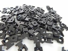 Pack of 100 Low-Profile Black Screw-In Cable Tie Mounts for use with # 8 screw
