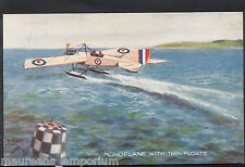 Aviation Postcard - Monoplane With Twin Floats - In The Air Series  RT1485