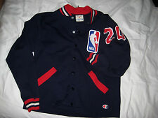 VTG OFFICIAL CHAMPION BIG NBA LOGO WARM UP JERSEY JACKET-ROCHESTER NY- M /S