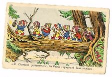 CPA BLANCHE NEIGE ET LES 7 NAINS N° 8