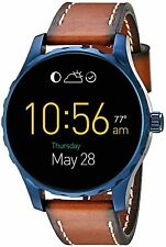NEW! Fossil - Q Marshal Smartwatch 45mm Stainless Steel - Blue FTW2106