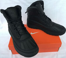 Nike ACG Woodside II 525393-090 Water Black Leather Duck Boots Shoes Men's