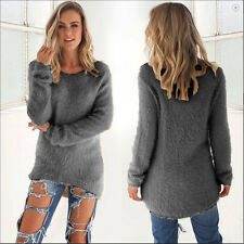 Fashion Women Long Sleeve V-Neck Loose Pullover Sweater Ladies Casual Jumper Top