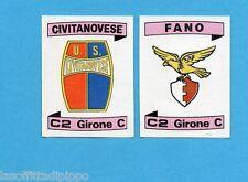 PANINI CALCIATORI 1984/85 -FIGURINA n.569- CIVITANOVESE+FANO -SCUDETTO -Rec