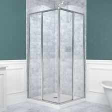 "DREAMLINE 36"" x 36"" CORNERVIEW SLIDING CORNER SHOWER ENCLOSURE AND BASE KIT"
