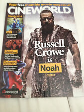 CINEWORLD MAGAZINE 2014 RUSSELL CROWE SAM WORTHINGTON KELLAN LUTZ KIT HARINGTON