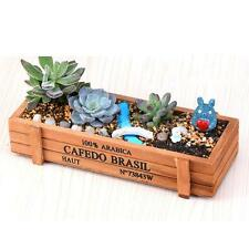 Garden Planter Plant Rectangle Flower Succulent Pot Trough Box Wood Case Bed