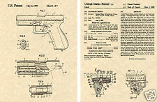 US PATENT for GLOCK AUTOMATIC PISTOL READY TO FRAME!!!! 17 21 22 40 45