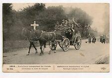 WW1. CROIX ROUGE . Ambulance transportant des blessés. RED CROSS.