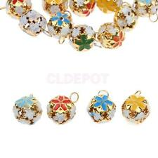 20Pcs Colorful Flower Hollow Pet Bell Jingle Bells XMAS Decoration Pendants