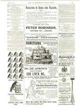 1893 Carrs Ladder Tapes Venetian Blinds Classic Victorian Advert Whitewall Court