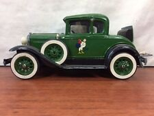 Vintage Hubley 1928-1931 Green Model A Ford Chicken Coupe Toy Model Kit Hot Rod