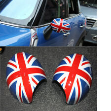 Pair UNION JACK Rear Mirror Cover Protection Shell Fit For Mini WING R55 R56
