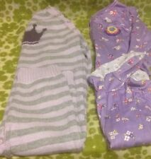 ⭐️ BABY GAP & CARTER'S ⭐️ Lot Of 2 Girl's 12-18 Month One-Piece PJ's Pajamas EUC