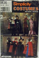 Simplicity Pattern #0636 Adult Costumes Vampires Robin Hood Maiden Witch (S-M-L)