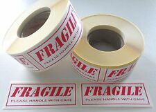 Fragile Labels/Stickers 500 On A Roll (Not Sheets) 80mm x 34mm