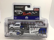 Greenlight Dodge Ram 1500 & Dodge Charger Hellcat 2016 w Enclosed Hauler 1/64