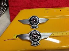 Genuine Harley Gas Fuel Tank Emblems Badges Touring Softail Fat Boy Dyna